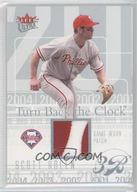 2004 Fleer Ultra - Turn Back The Clock Jerseys - Platinum Patch #TBC-SR - Scott Rolen /29