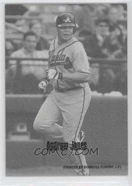 2004 Leaf - Exhibits - 1947-66 PDPSCR Printed by Donruss Playoff Print Name #5 - Andruw Jones /66