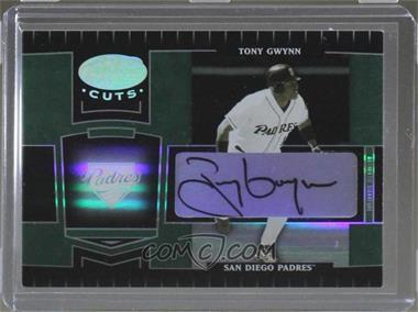 2004 Leaf Certified Cuts - [Base] - Marble Black Signatures [Autographed] #244 - Tony Gwynn /1