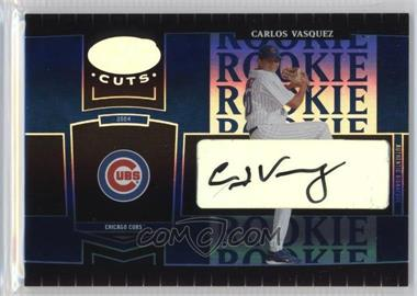 2004 Leaf Certified Cuts - [Base] - Marble Blue Signatures [Autographed] #256 - Carlos Vasquez /75