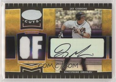 2004 Leaf Certified Cuts - [Base] - Marble Gold Position Materials Signatures [Autographed] [Memorabilia] #23 - Jay Gibbons /50