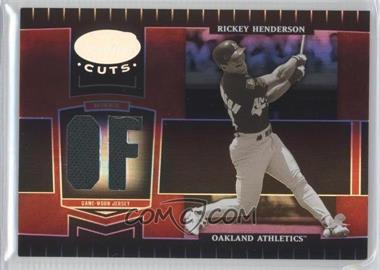 2004 Leaf Certified Cuts - [Base] - Marble Red Position Materials [Memorabilia] #241 - Rickey Henderson /100