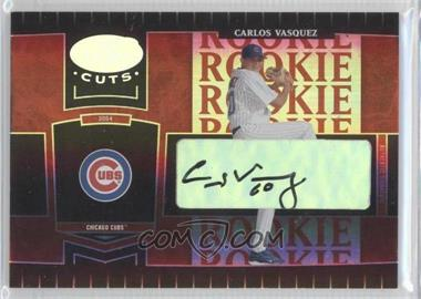 2004 Leaf Certified Cuts - [Base] - Marble Red Signatures [Autographed] #256 - Carlos Vasquez /100