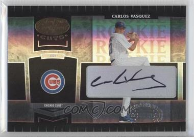 2004 Leaf Certified Cuts - [Base] #256 - Carlos Vasquez /499