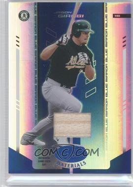 2004 Leaf Certified Materials - [Base] - Blue Mirror Bat #206 - Jason Giambi /50