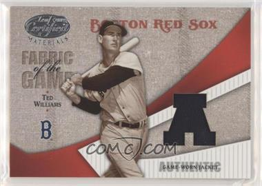 2004 Leaf Certified Materials - Fabric of the Game - AL/NL #FG-115 - Ted Williams /100