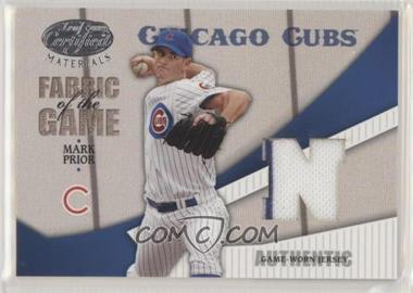 2004 Leaf Certified Materials - Fabric of the Game - AL/NL #FG-75 - Mark Prior /100