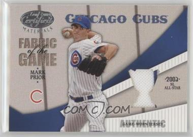 2004 Leaf Certified Materials - Fabric of the Game - Award #FG-75 - Mark Prior /25