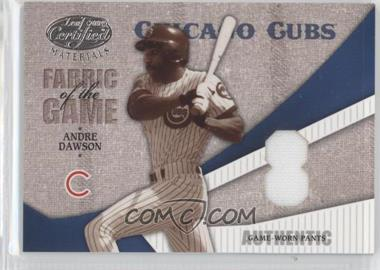 2004 Leaf Certified Materials - Fabric of the Game - Jersey Number #FG-8 - Andre Dawson /8