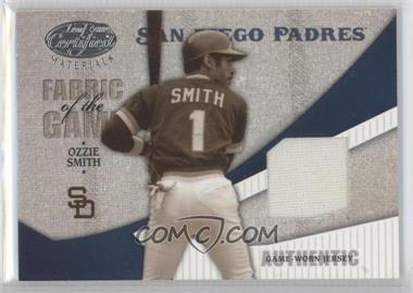 2004 Leaf Certified Materials - Fabric of the Game #FG-1 - Ozzie Smith /100