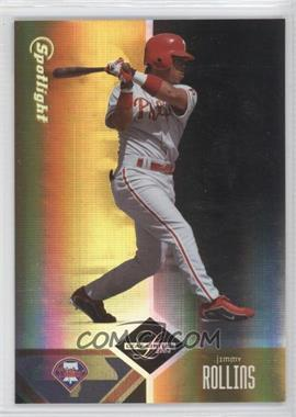 2004 Leaf Limited - [Base] - Spotlight Gold #65 - Jimmy Rollins /25
