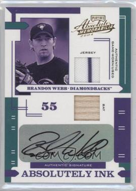 2004 Playoff Absolute Memorabilia - Absolutely Ink - Combo Materials [Memorabilia] #AI-22 - Brandon Webb /50