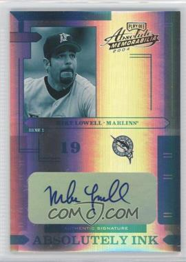 2004 Playoff Absolute Memorabilia - Absolutely Ink - Spectrum #AI-86 - Mike Lowell /1