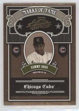 2004 Playoff Absolute Memorabilia - Marks of Fame #MOF-5 - Sammy Sosa /100