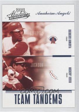 2004 Playoff Absolute Memorabilia - Team Tandems #TAN-1 - Vladimir Guerrero, Reggie Jackson /250