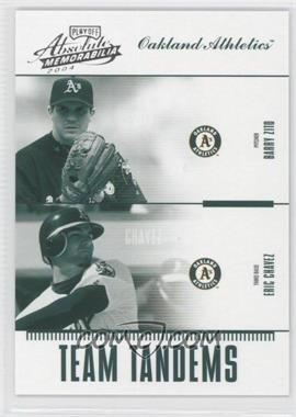 2004 Playoff Absolute Memorabilia - Team Tandems #TAN-13 - Barry Zito, Eric Chavez /250