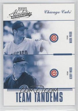 2004 Playoff Absolute Memorabilia - Team Tandems #TAN-17 - Mark Prior, Kerry Wood /250