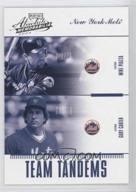 2004 Playoff Absolute Memorabilia - Team Tandems #TAN-3 - Mike Piazza, Gary Carter /250