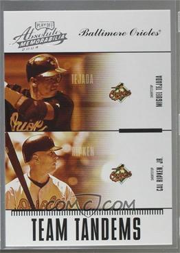 2004 Playoff Absolute Memorabilia - Team Tandems #TAN-4 - Miguel Tejada, Cal Ripken Jr. /250