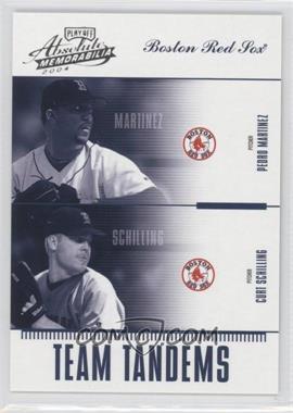 2004 Playoff Absolute Memorabilia - Team Tandems #TAN-6 - Pedro Martinez, Curt Schilling /250