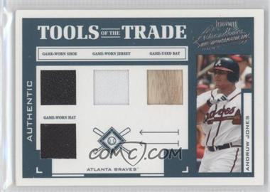 2004 Playoff Absolute Memorabilia - Tools of the Trade - Green Quad Materials [Memorabilia] #TT-11 - Andruw Jones /50