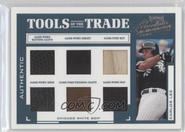 2004 Playoff Absolute Memorabilia - Tools of the Trade - Green Six Materials [Memorabilia] #TT-29 - Carlos Lee /25