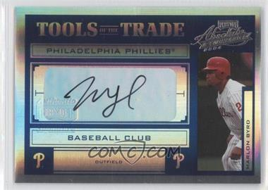 2004 Playoff Absolute Memorabilia - Tools of the Trade - Spectrum Blue Signatures [Autographed] #TT-93 - Marlon Byrd /50