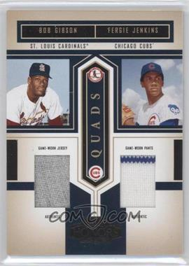 2004 Playoff Honors - Quad Materials #Q-20 - Fergie Jenkins, Bob Gibson, Tom Seaver, Jim Palmer /100