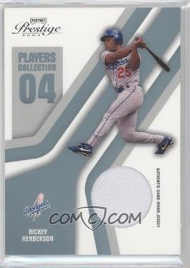 2004 Playoff Prestige - Players Collection Relics - Platinum #PC-74 - Rickey Henderson /50