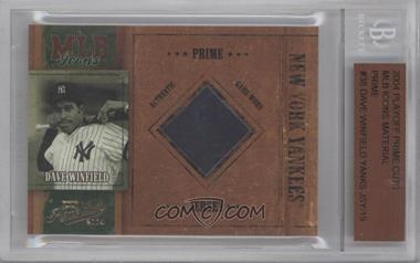 2004 Playoff Prime Cuts - MLB Icons - Materials [Memorabilia] #MLB-38 - Dave Winfield /19 [BGS AUTHENTIC]