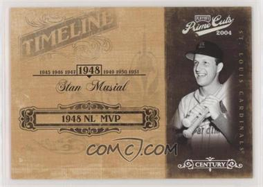 2004 Playoff Prime Cuts II - Timeline - Century Silver #TL-89 - Stan Musial /25