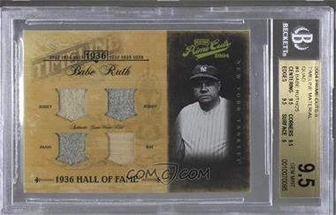 2004 Playoff Prime Cuts II - Timeline - Material Quad #TL-4 - Babe Ruth /25 [BGS9.5GEMMINT]