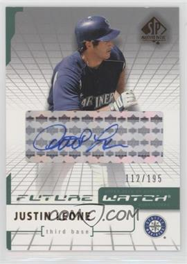 2004 SP Authentic - [Base] - Future Watch Silver Autographs [Autographed] #118 - Justin Leone /195