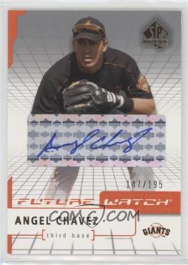 2004 SP Authentic - [Base] - Future Watch Silver Autographs [Autographed] #91 - Angel Chavez /195