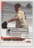 Jason Schmidt (April 30, 2003, Strikeout 3) #/1