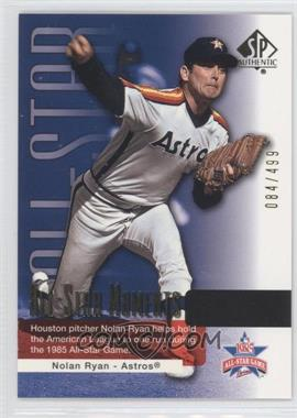 2004 SP Authentic - [Base] - Silver #158 - Nolan Ryan /499