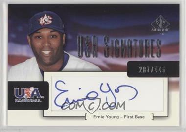 2004 SP Authentic - USA Signatures #USA-1 - Ernie Young /445