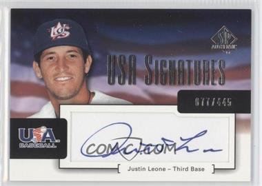 2004 SP Authentic - USA Signatures #USA-13 - Justin Leone /445