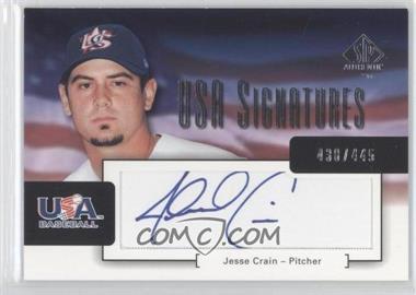 2004 SP Authentic - USA Signatures #USA-3 - Jesse Crain /445