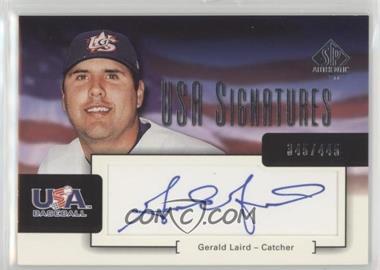 2004 SP Authentic - USA Signatures #USA-6 - Gerald Laird /445