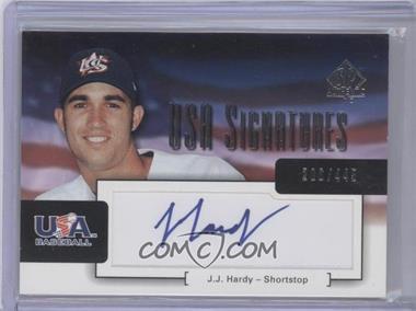 2004 SP Authentic - USA Signatures #USA-9 - J.J. Hardy /445