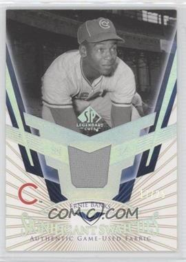 2004 SP Legendary Cuts - SIGnificant Swatches - Parallel #SS-EB - Ernie Banks /25