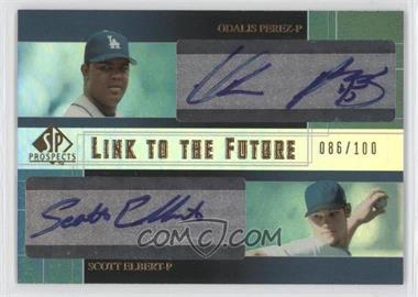 2004 SP Prospects - Link to the Future Dual Autographs #LF-PE - Odalis Perez, Scott Elbert /100