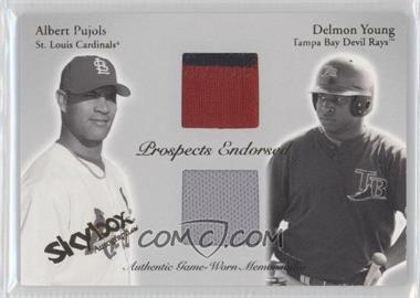 2004 Skybox Autographics - Prospects Endorsed Dual - Patch [Memorabilia] #PEP-AP/DY - Albert Pujols /50