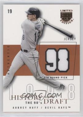 2004 Skybox Limited Edition - History Of The Draft The 90's - Copper Jerseys [Memorabilia] #HD-AH - Aubrey Huff /98