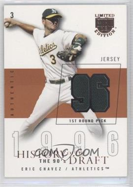 2004 Skybox Limited Edition - History Of The Draft The 90's - Copper Jerseys [Memorabilia] #HD-EC - Eric Chavez /96