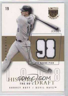 2004 Skybox Limited Edition - History Of The Draft The 90's - Gold Jerseys [Memorabilia] #HD-AH - Aubrey Huff /10