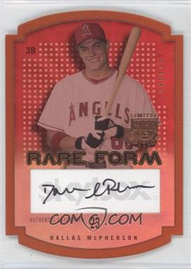 2004 Skybox Limited Edition - Rare Form - Copper Autographs [Autographed] #RFA-DM - Dallas McPherson /99