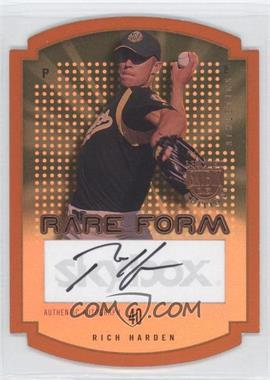 2004 Skybox Limited Edition - Rare Form - Copper Autographs [Autographed] #RFA-RH - Rich Harden /99