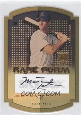 2004 Skybox Limited Edition - Rare Form - Gold Autographs [Autographed] #RFA-MK - Matt Kata /10